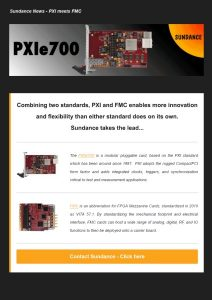 Sundance News – PXI Test Solutions – March 2017