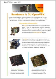 OpenVPX Newsletter – June 2016