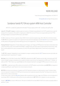 July 21 2015  – Sundance hands PC/104 eco-system ARM Host Controller